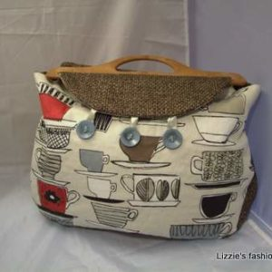 Reversible coffee cup design handbag
